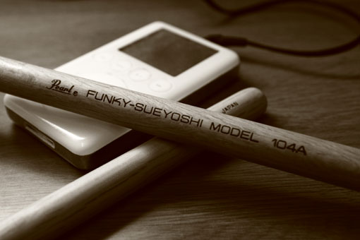 Funky Sueyoshi Pearl Drumsticks made in Japan
